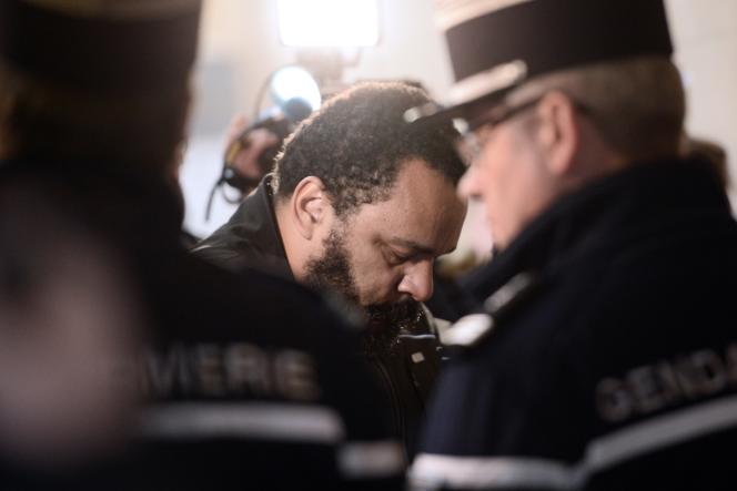 Le polémiste Dieudonné, le 28 janvier, à Paris.