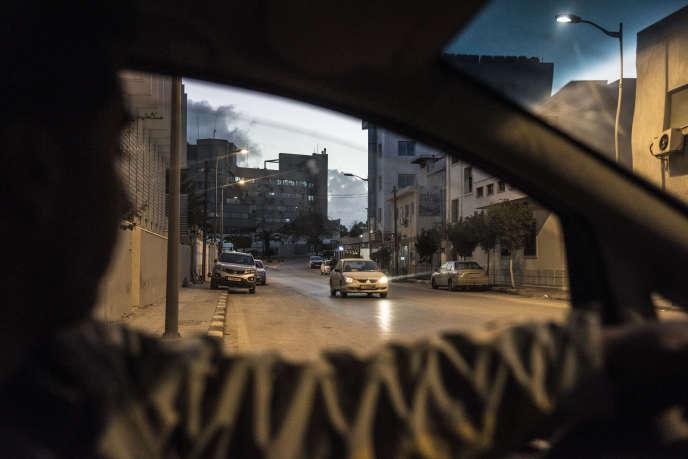 Dans le centre-ville de Tripoli, le 20 janvier.