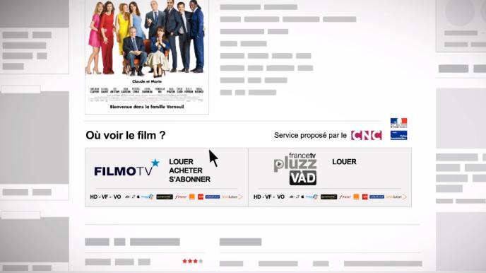 Sur une fiche de film sur le site de Premiere.fr, mentionnant en pied les offres légales pour le visionner en ligne, via un dispositif créé par le ministère de la culture et le Centre national du cinéma