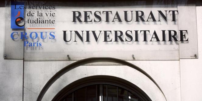 Un restaurant universitaire du CROUS de Paris en 2010.