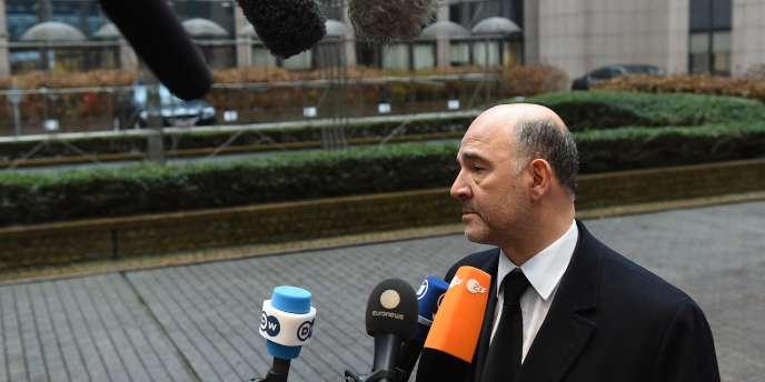 Le commissaire européen aux affaires économiques et financières, Pierre Moscovici, à Bruxelles le 26 janvier.
