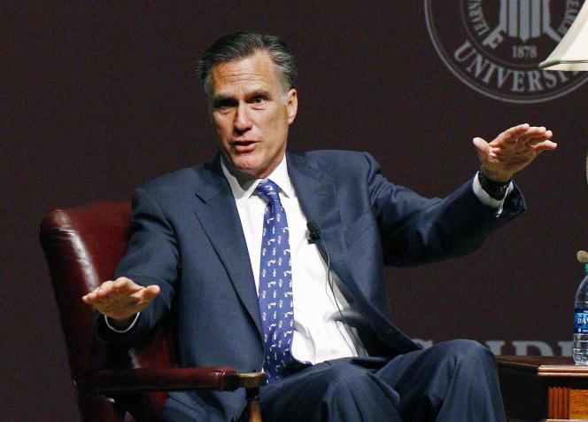 Mitt Romney, de confession mormone, pourrait annoncer sa candidature à la présidentielle américaine de 2016. Ici, le 28 janvier 2015 à l'université du Mississippi, à Starkville.