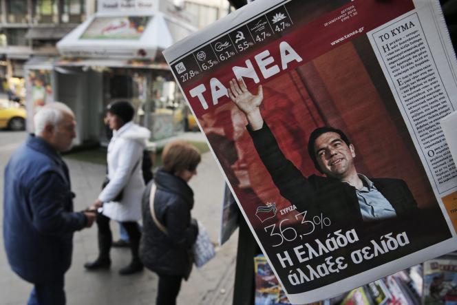 Au lendemain de la victoire de Syriza, dans les rues d'Athènes.