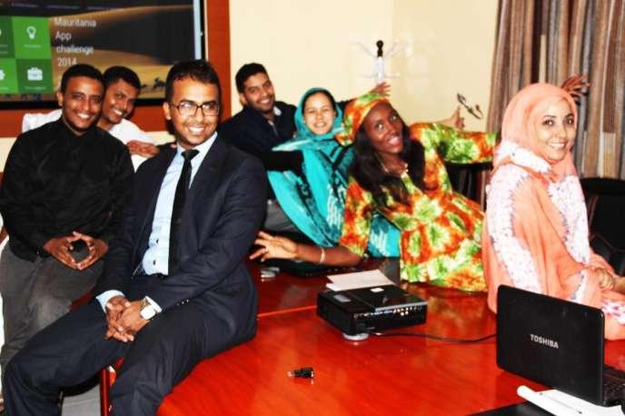 L'équipe de Hadina Rim Tic, initiatrice du concours MauriApp.