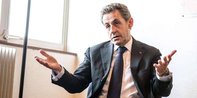 Nicolas Sarkozy, à Tourcoing le 29 janvier.