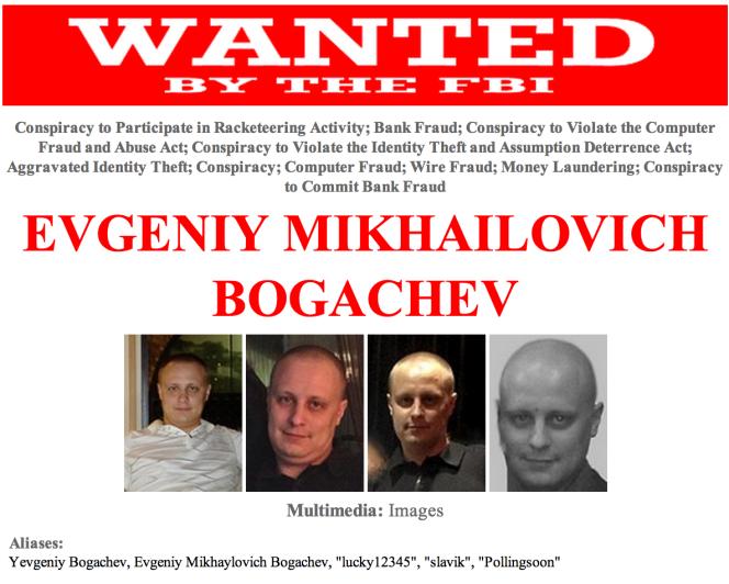 Evgeniy Mikhailovich Bogachev, cerveau de CryptoLocker.