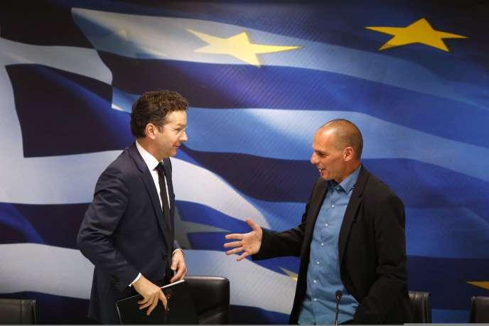 Lors de la rencontre, vendredi, entre le ministre des finances grec et le chef de l'Eurogroupe.