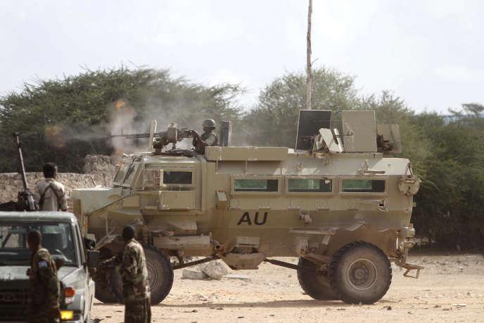 Des soldats ougandais servant dans l'AMISOM (la mission de l'Union africaine en Somalie) en 2012.