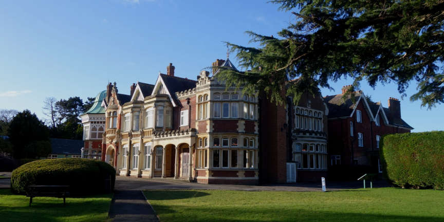 Le manoir de Bletchley Park.
