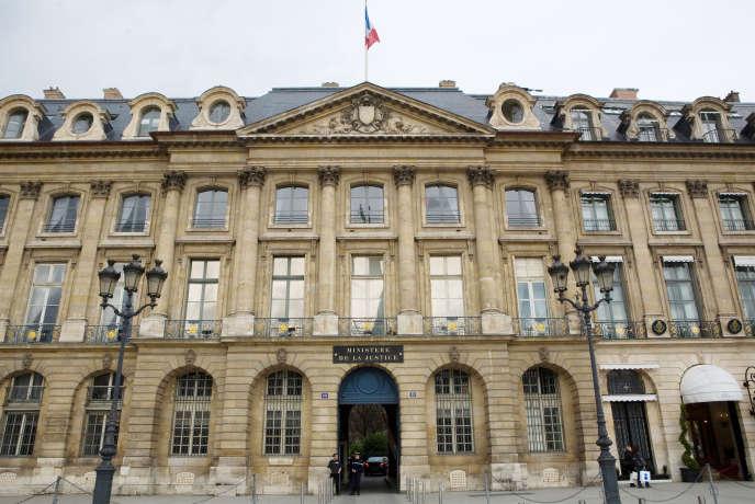 Le ministère de la justice, à Paris, en 2010 (photo d'illustration).