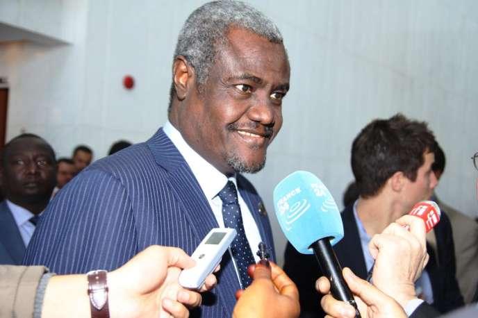 Le chef de la diplomatie tchadienne, Moussa Faki Mahamat,  lors du sommet de l'Union africaine.