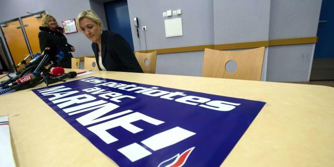 Marine Le Pen dans le Doubs, le 23 janvier.