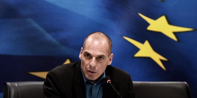 Le ministre des finances grec, Yanis Varoufakis, à Athènes, vendredi.