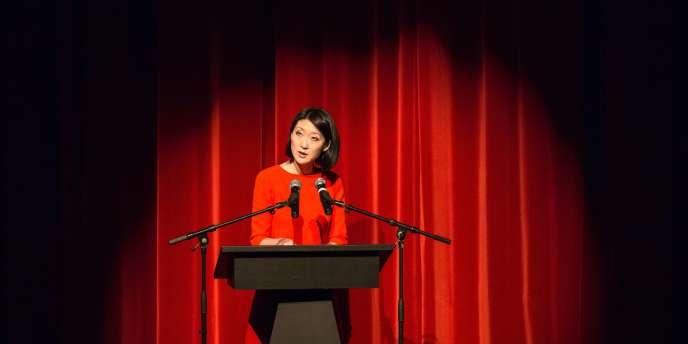 La Ministre de la culture Fleur Pelerin le 1er février 2015 lors du festival de la bande dessinée d'Angouleme. PHOTO / PIERRE DUFFOUR