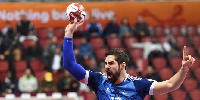 Le handballeur français Nikola Karabatic, lors du championnat du monde 2015 au Qatar.