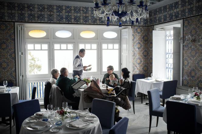 Restaurant de la Villa bleue à Sidi Bou Saïd.