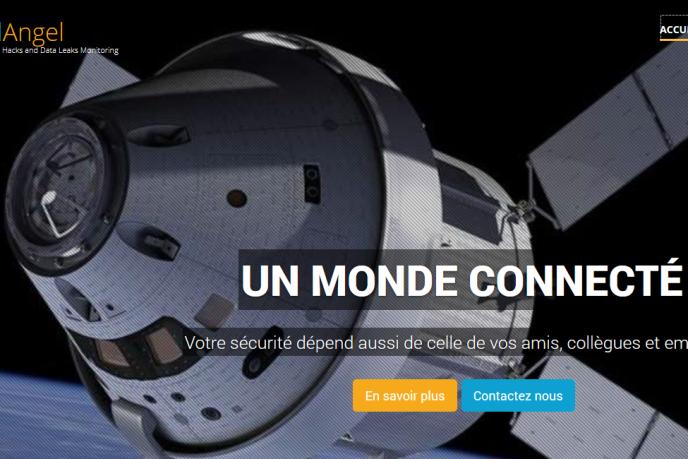 Page d'accueil du site Internet de CybelAngel, une start-up française spécialisée dans la détection des cyberattaques.