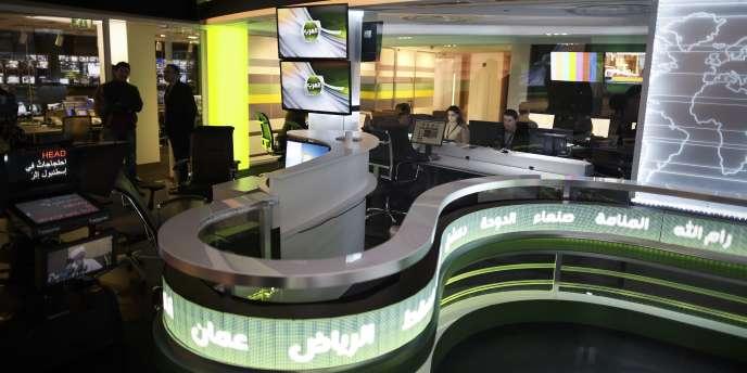 Lundi matin, Alarab continuait de diffuser des spots publicitaires pour ses programmes, mais aucun bulletin d'information n'était annoncé.