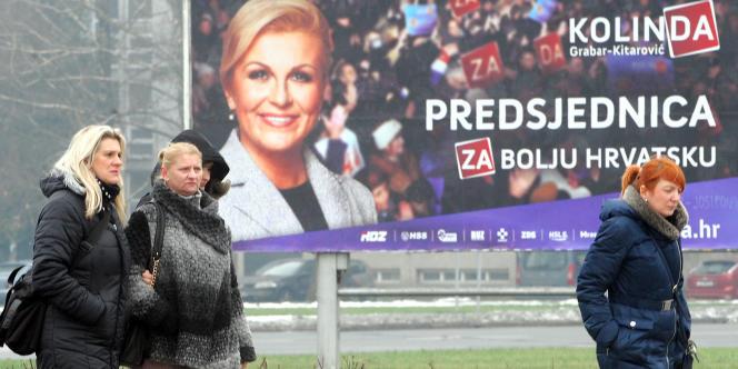 A Zagreb, capitale de la Croatie, le 9 janvier 2015.