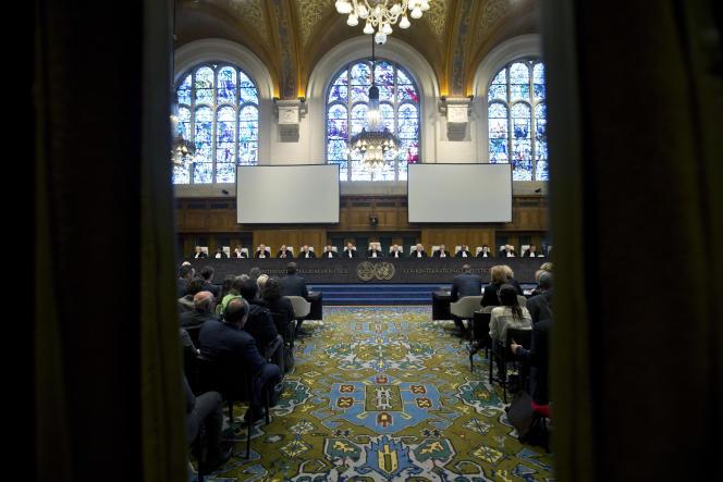 La Cour de justice de La Haye, le 3 février.