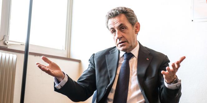 Le président de l'UMP, Nicolas Sarkozy, le 29 janvier à Tourcoing.