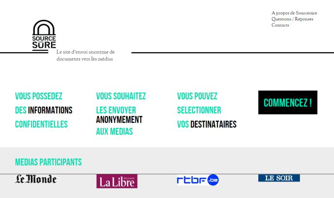 Capture d'écran du site sourcesure.eu.