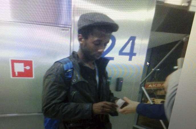 Moussa Coulibaly, à l'aéroport d'Istanbul, le 29janvier 2015.