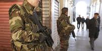 «En 2014, selon la Commission européenne, le budget de la justice française se classait à la 37e place sur 45» (Photo: des soldats français en patrouille à Nice, le 4 février 2015).