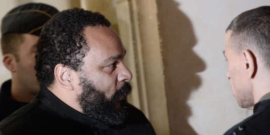 Dieudonné au tribunal correctionnel de Paris, le 28 janvier.