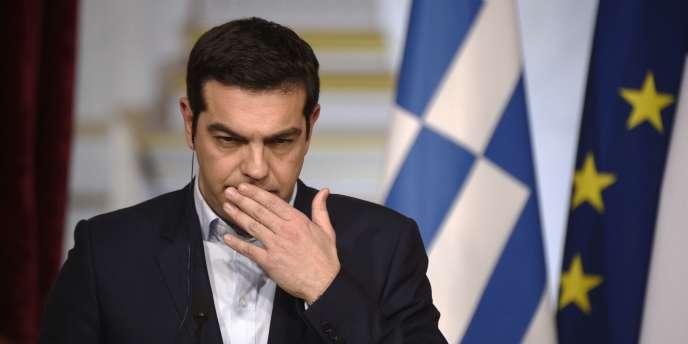 Alexis Tsipras à Paris, le 4 février.  AFP PHOTO MARTIN BUREAU