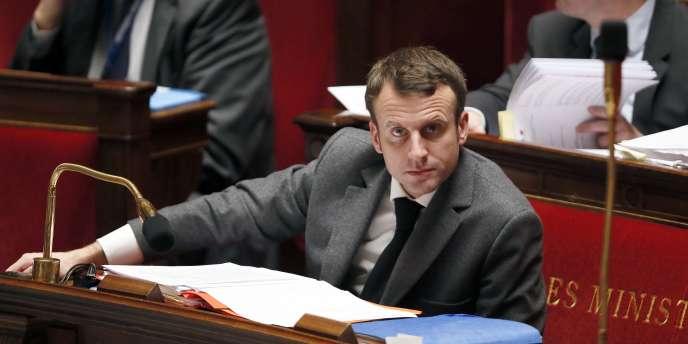 Emmanuel Macron à l'Assemblée nationale, le 4février.