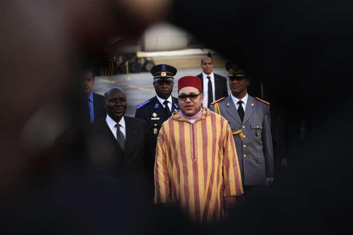 Mohammed VI, lors d'un voyage officiel à Abidjan, en février 2014.