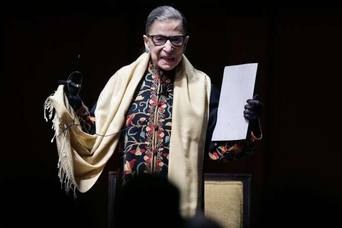 Ruth Bader Ginsburg à Ann Arbor (Michigan), en février 2015.