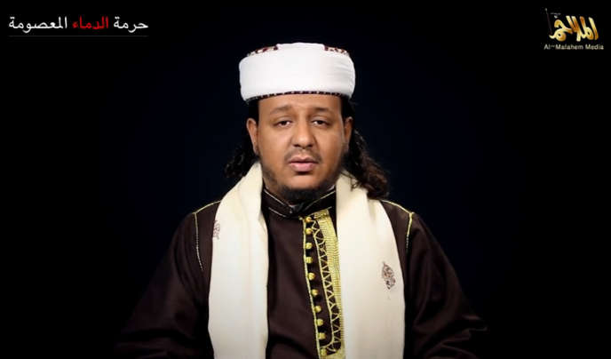Harith Al-Nadhari, sur une vidéo diffusée par Al-Qaida dans la péninsule Arabique.