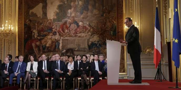 François Hollande lors de sa cinquième conférence de presse, le 5 février 2015.