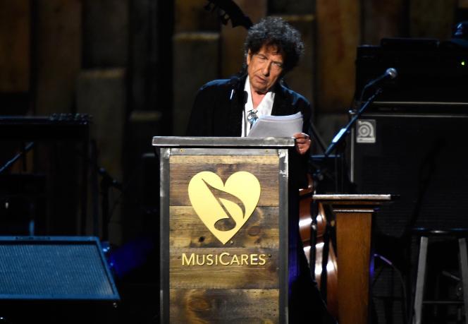 Bob Dylan lors de la cérémonie des Musicares à Los Angeles, le 6 février 2015.