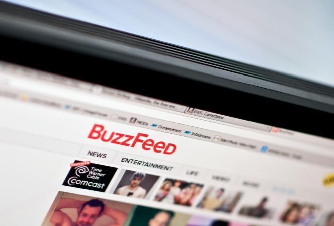 Le site BuzzFeed aux Etats-Unis