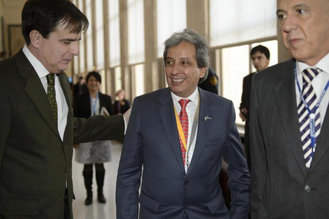 Manuel Pulgar Vidal, président en exercice de la Conférence des parties, le 8 février à Genève.