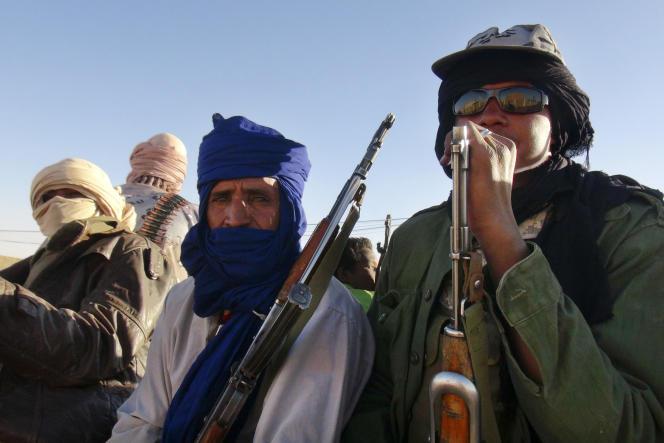 Des combattants du MNLA dans les environs de Kidal, au nord Mali.