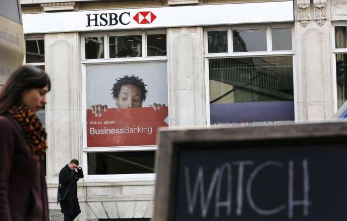Une agence HSBC à Londres.