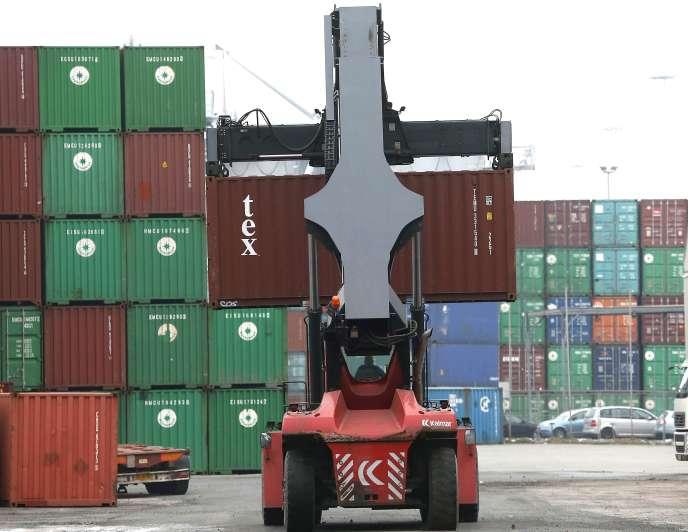 Le port de Duisbourg, en Allemagne. L'excédent commercial a atteint des niveaux exceptionnels.