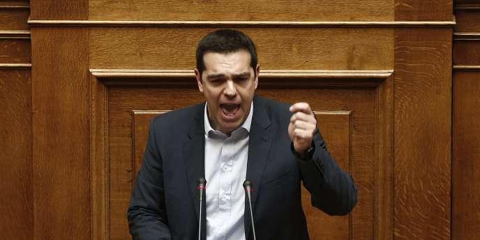 Alexis Tsipras devant le nouveau Parlement grec, le 8février.