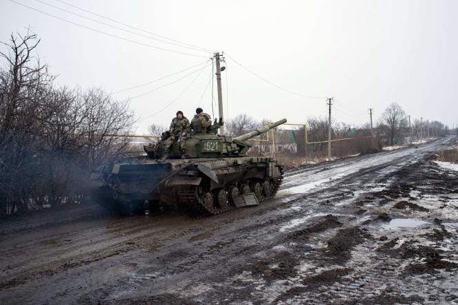 A proximité de l'aéroport de Donetsk, épicentre des combats dans l'est de l'Ukraine.