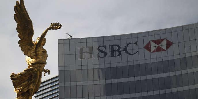 Le siège de la branche mexicaine d'HSBC, à Mexico, en janvier 2015.