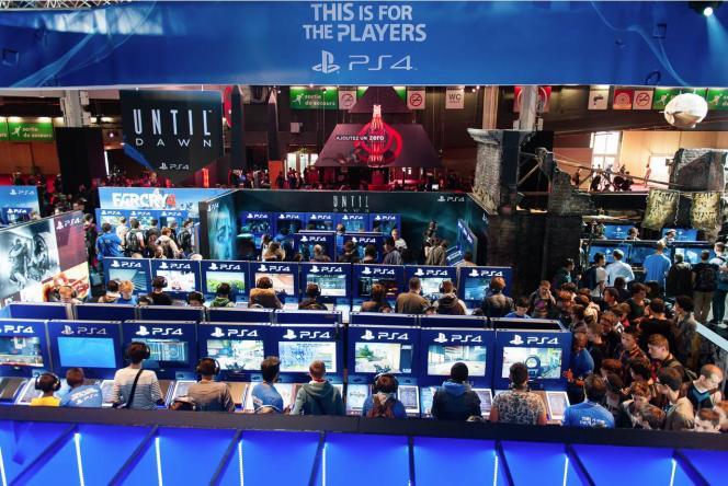 Le stand PlayStation 4 à la Paris Games Week.