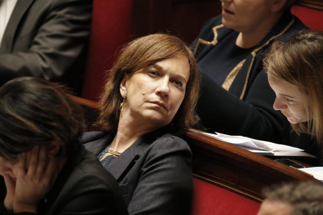 Laurence Rossignol la secrétaire d'Etat chargée de la Famille, à l'Assemblée nationale le 10 février.