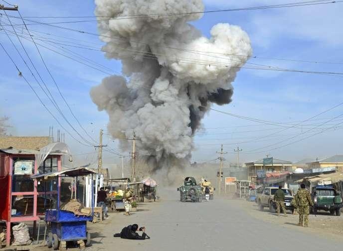 Attaque suicide dans la province de Kunduz, en 2015.