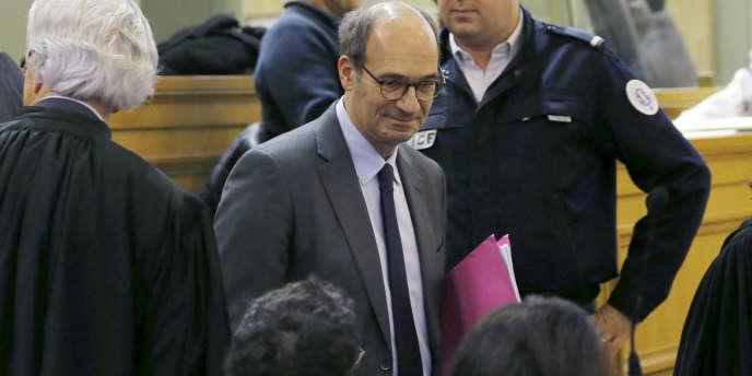 Le député UMP Eric Woerth, lors du procès Bettencourt, au tribunal correctionnel de Bordeaux, le 26janvier.