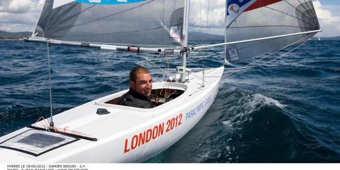 Damien Seguin lors des Jeux paralympiques de Londres, en 2012.