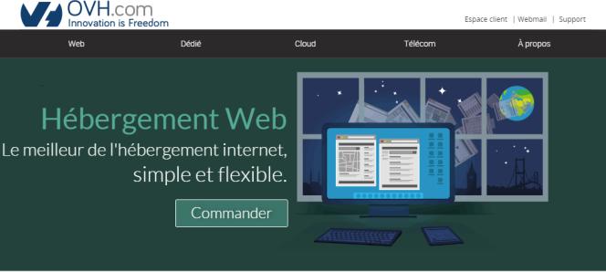 OVH est le premier hébergeur informatique français.